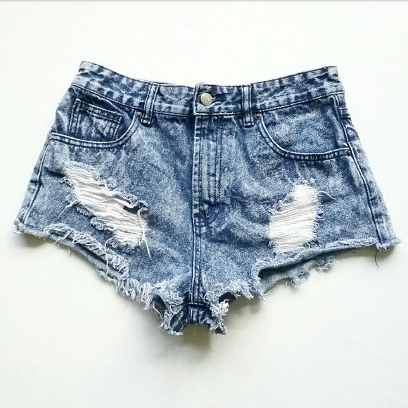 Forever 21 Pants - Forever 21 Acid Wash High Waist Jean Shorts